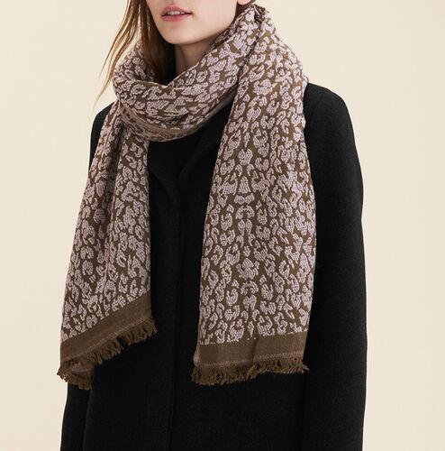 Echarpe imprimée léopard : Accessoires couleur Rose Pale