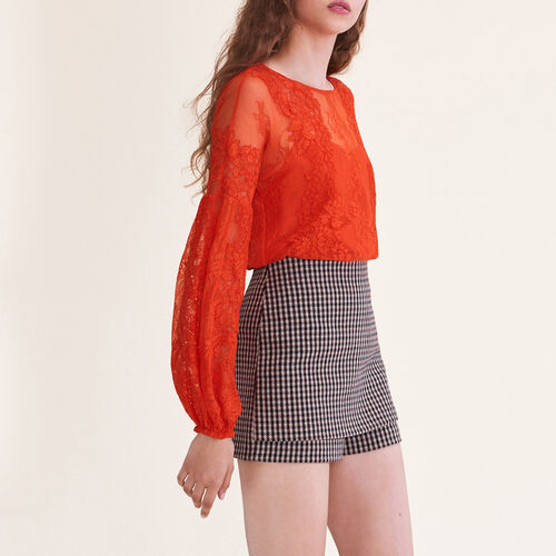 Top en dentelle : Tops couleur Orange
