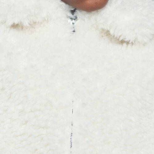 Blouson court en fausse fourrure : Blousons couleur Blanc
