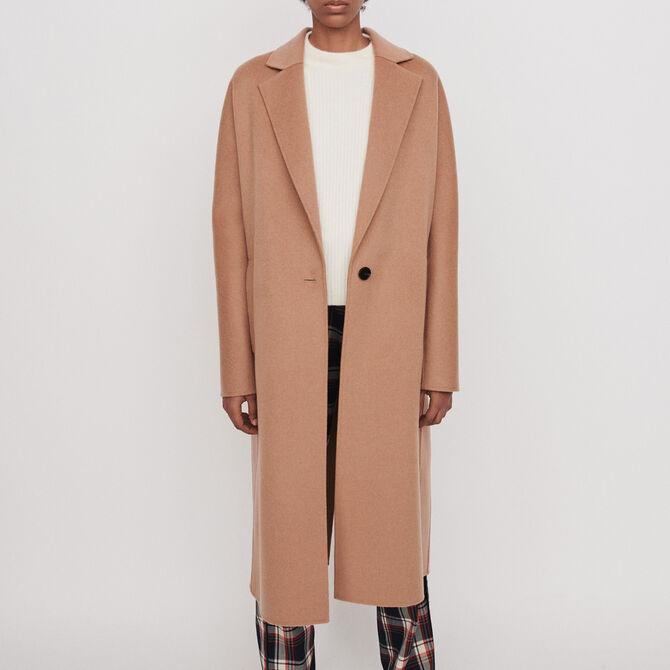 Manteau en double face ceinturé - Voir tout - MAJE