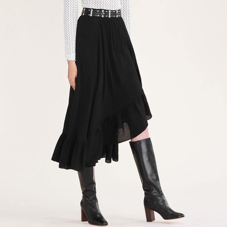 Asymmetric frilled skirt - See all - MAJE