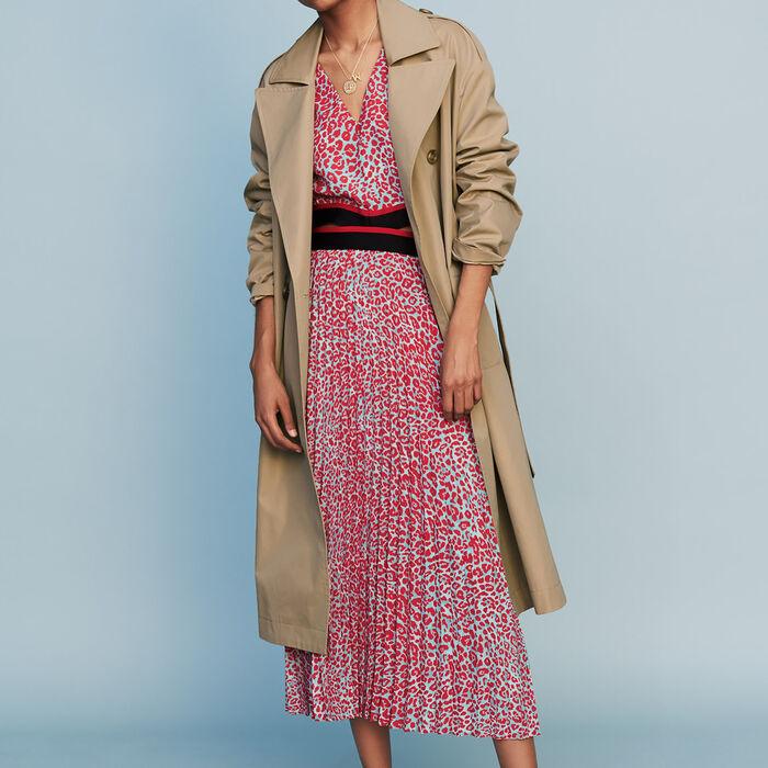 Trench basique en toile : Prêt-à-porter couleur Beige