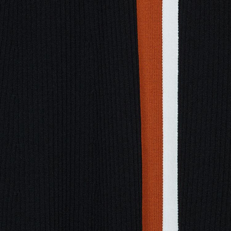 Robe cache-cœur en maille : Robes couleur Black