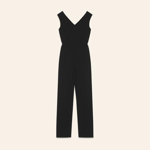 Combinaison en crêpe : Pantalons & Jeans couleur BLACK