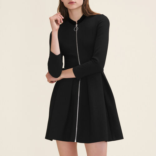 Zipped dress : Dresses color Black 210