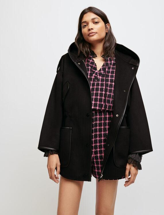 Manteau double face oversize à capuche - Manteaux & Blousons - MAJE