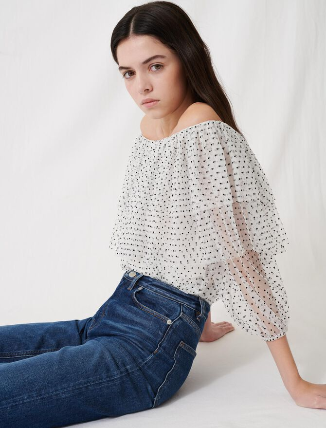 Loose top with ruffles - Tops & Shirts - MAJE