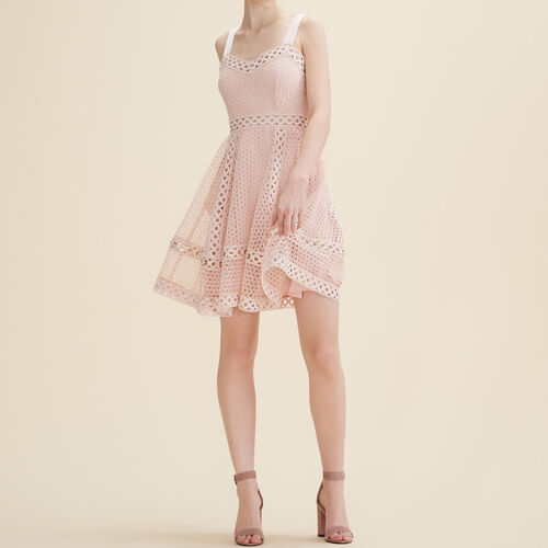 Embroidered strappy dress - Dresses - MAJE