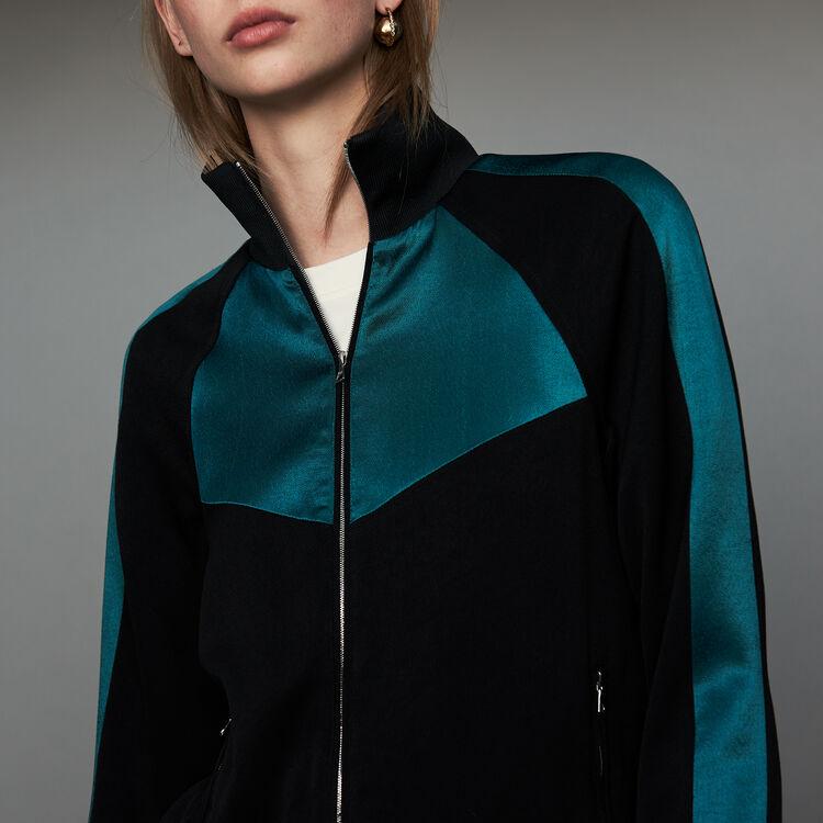 Veste esprit sportswear bicolore : Prêt-à-porter couleur Black