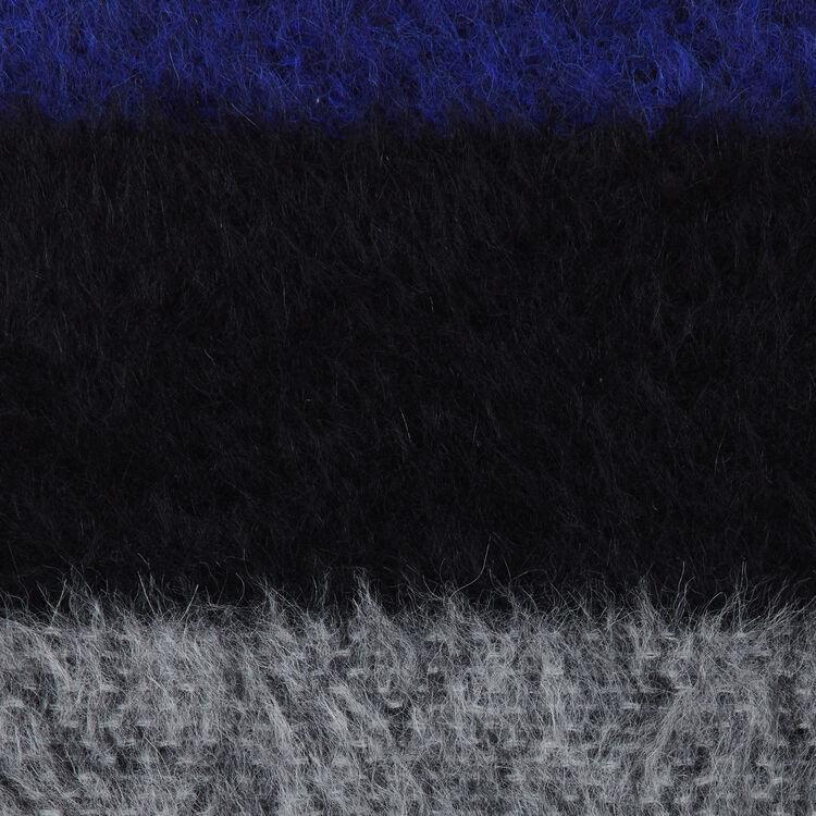 Echarpe en laine color block : Châles & Ponchos couleur VIOLET