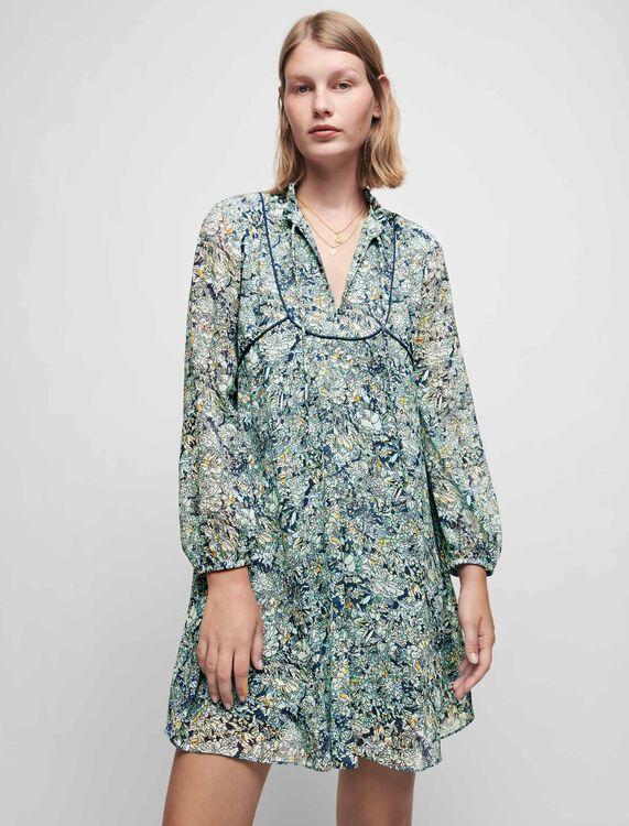 Robe en mousseline imprimée - Robes - MAJE