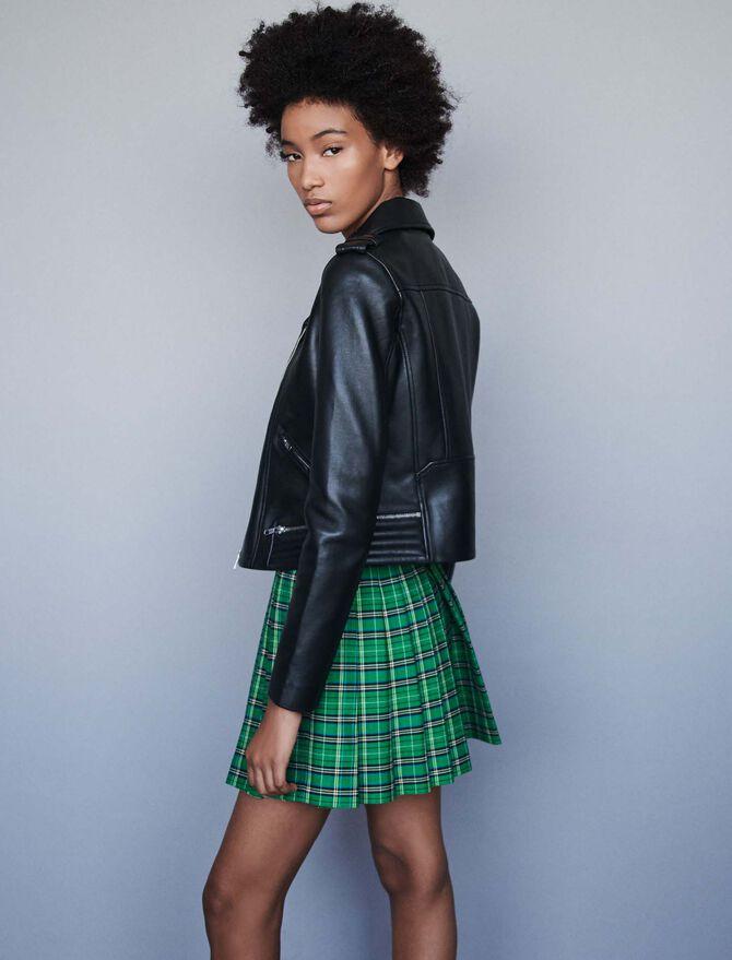 Leather biker jacket -  - MAJE