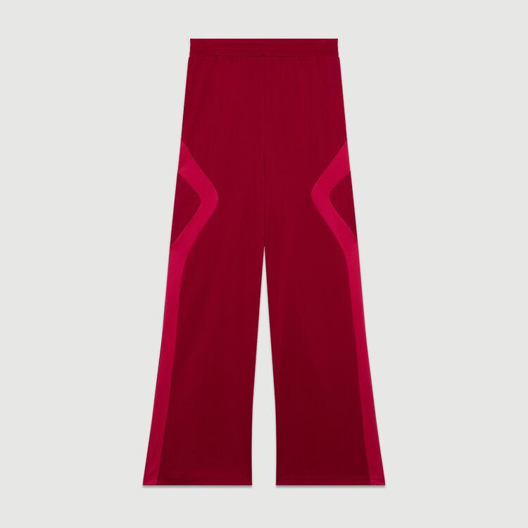 Pantalon de jogging : Pantalons couleur Framboise