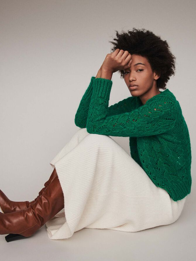 Fancy knit sweater - Knitwear - MAJE