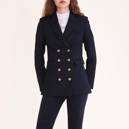 Veste croisée à huit boutons : Vestes couleur Black