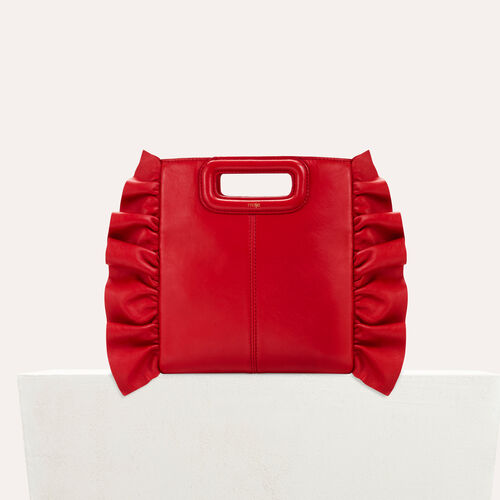 Frilled M bag : M bag color Red