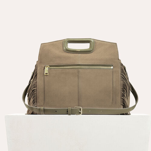 Suede shoulder bag : See all color Khaki