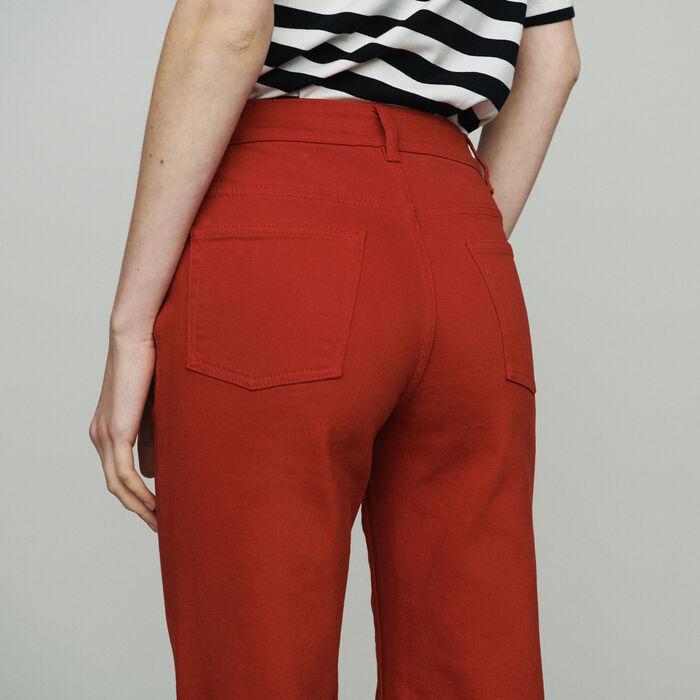 Jean taille haute : Pantalons & Jeans couleur Rouge
