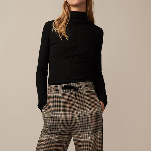 Checked jogging bottoms : Trousers & Jeans color Jacquard