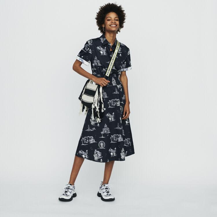 Bandoulière en textile jacquard : Bandoulières couleur JAUNE