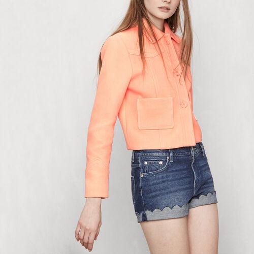 Veste courte à empiècements : Manteaux & Blousons couleur Mandarine