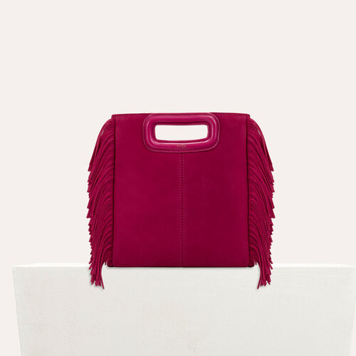 Suede M bag : M bags color Raspberry