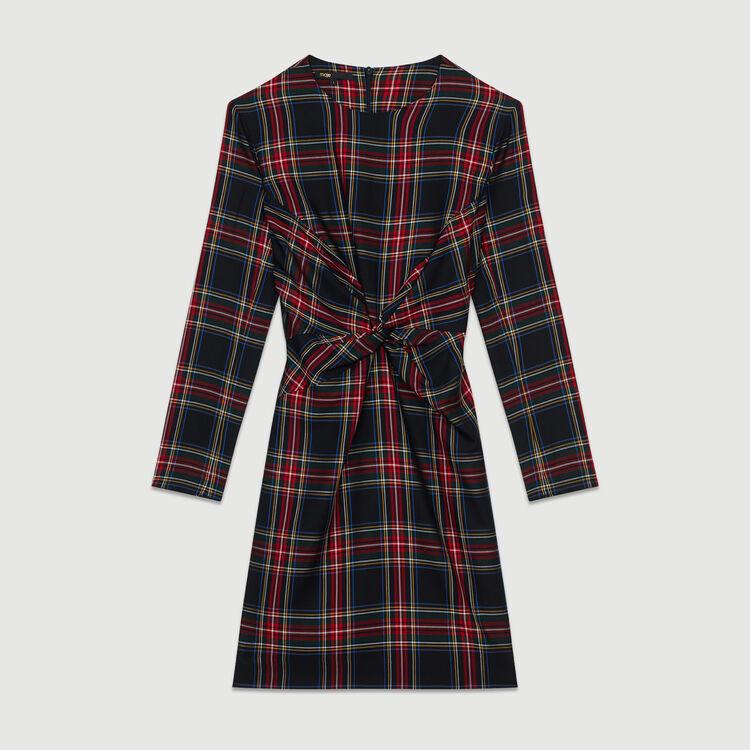 Robe drapée à carreaux : Robes couleur CARREAUX