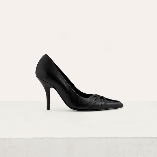 Escarpins drapés en cuir : Office girl couleur Black