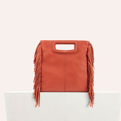 Lambskin M bag : See all color Brick