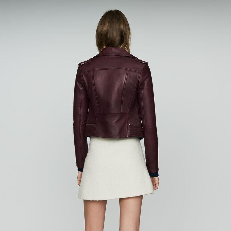 Blouson en cuir : Bordeaux couleur BORDEAUX