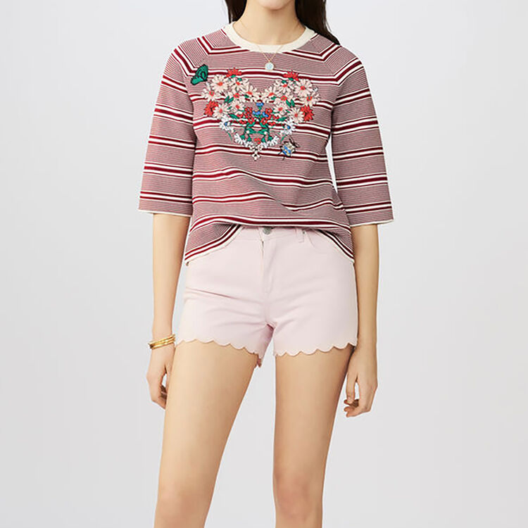 Short denim : Jupes & Shorts couleur Rose