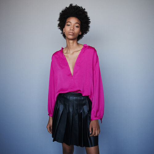 Top en satin : Tops & Chemises couleur Rose