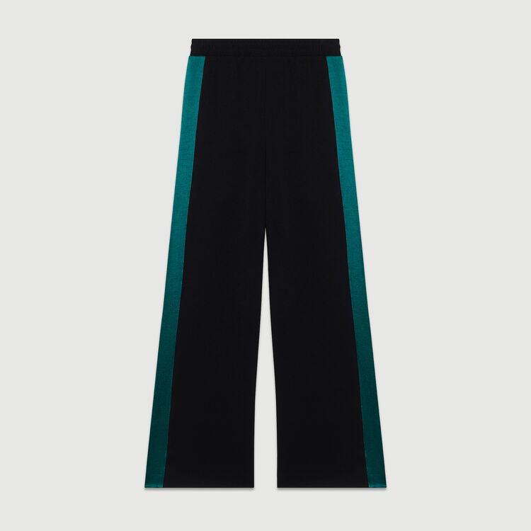 Pantalon large bicolore : Pantalons couleur Black