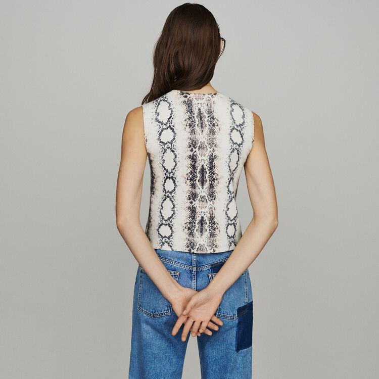 Pull court sans manchesimprimé python : Pulls & Cardigans couleur IMPRIME