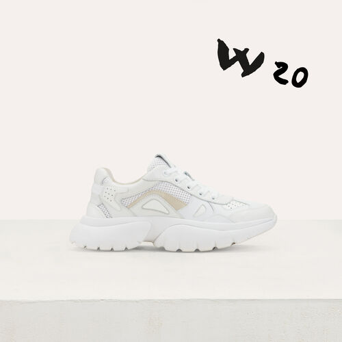 W20 Urban leather sneakers : Sneakers color White