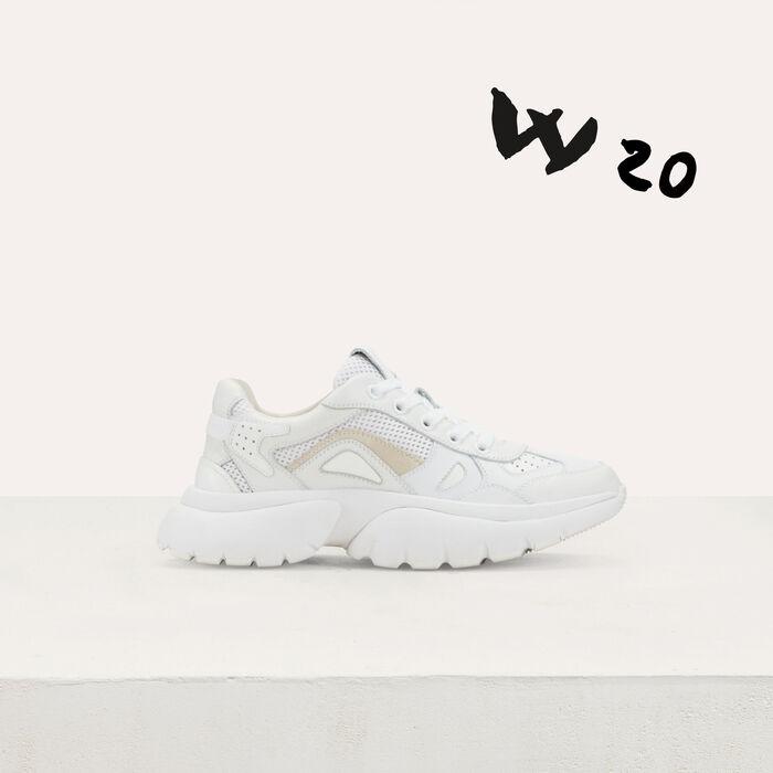 Sneakers W20 urbaines en cuir : Sneakers couleur Blanc