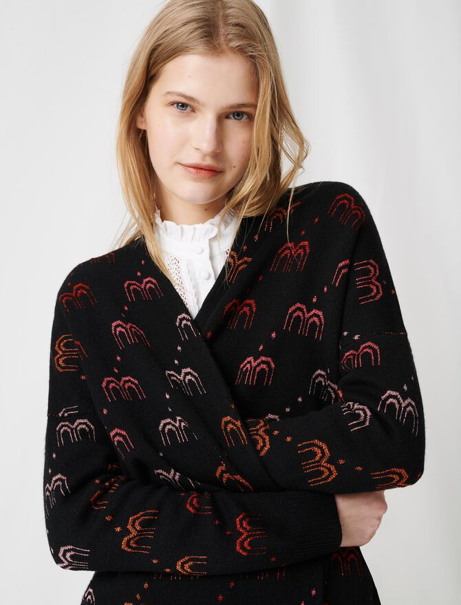 Monogrammed jacquard cardigan - All the collection - MAJE