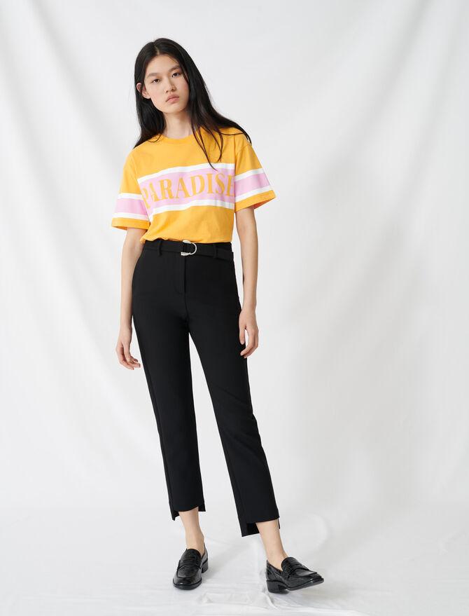 Pantalon droit ceinturé - Pantalons & Jeans - MAJE