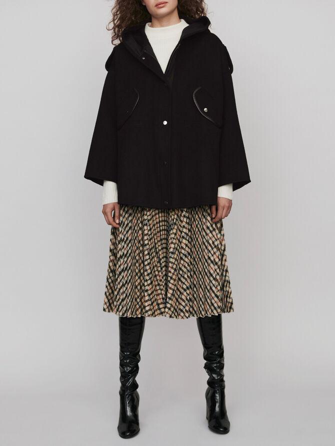 Double face cape coat -  - MAJE