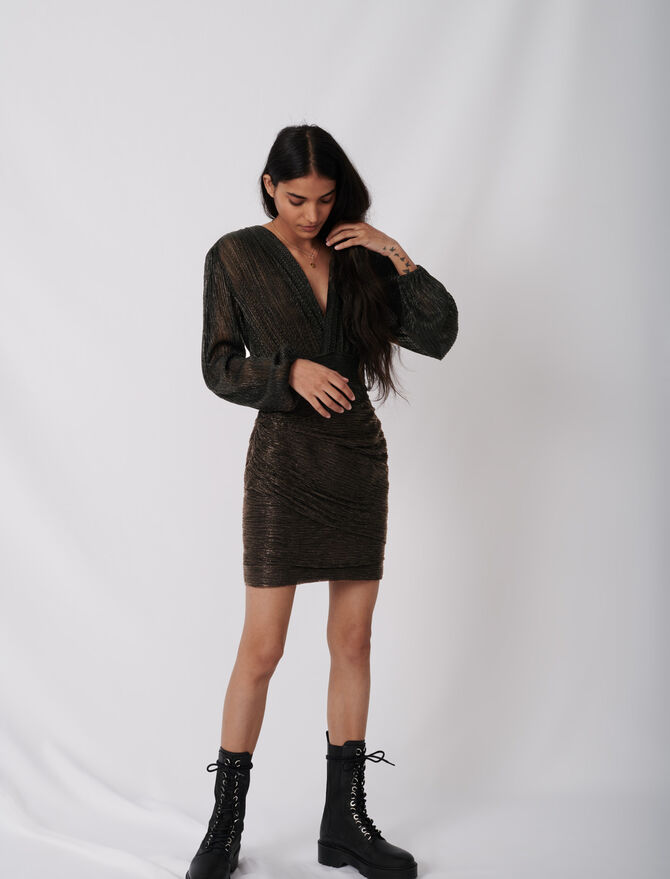 Robe près du corps en lurex stretch - Robes - MAJE