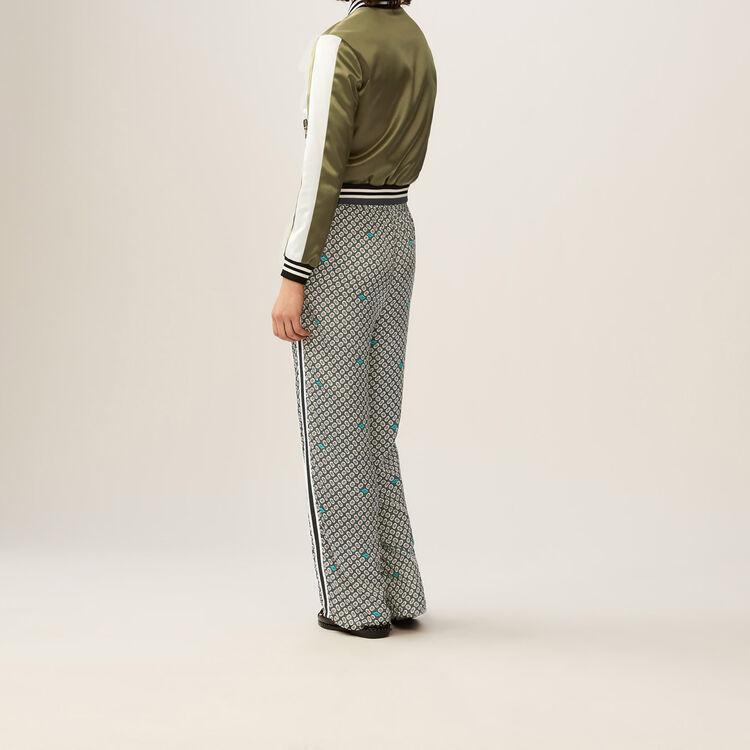 Pantalon fluide imprimé : Pantalons couleur IMPRIME
