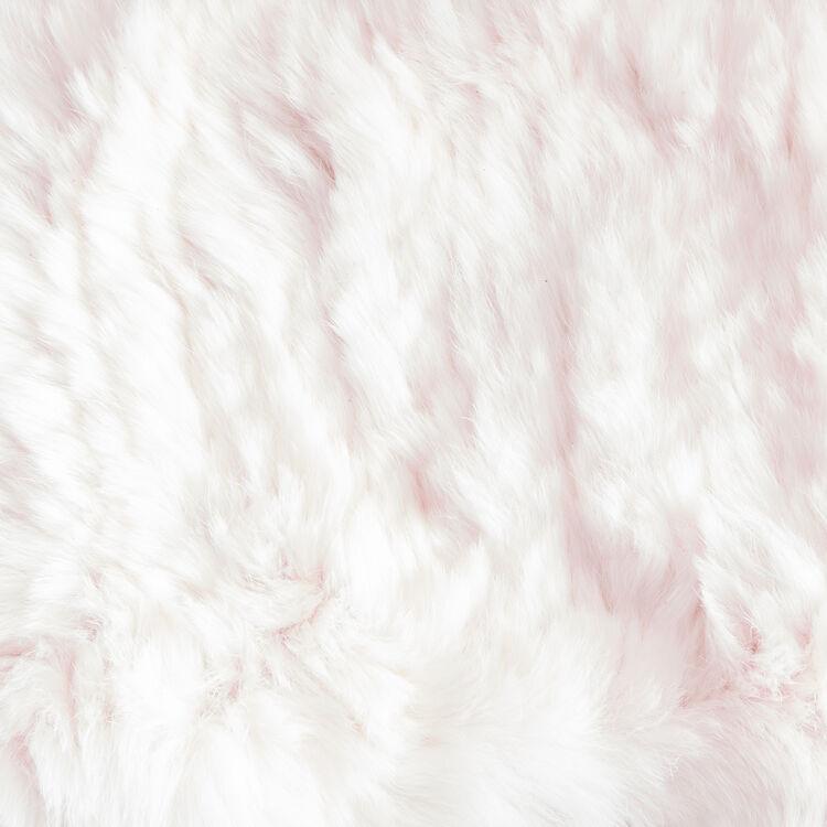 Tour de cou en lapin : Accessoires couleur ROSE PALE