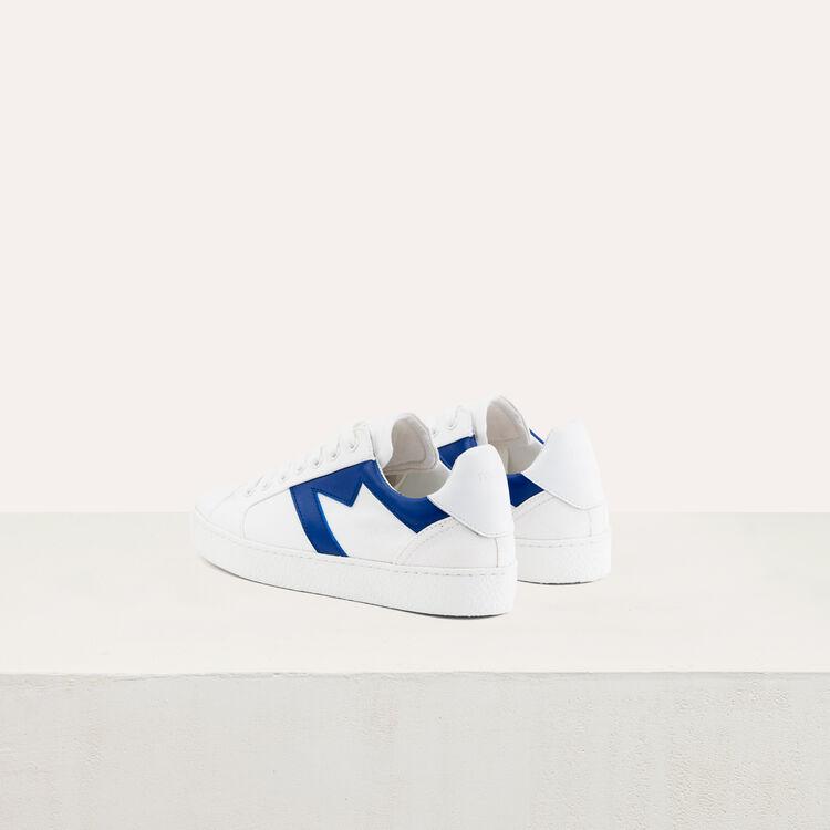 Baskets en toile avec découpe M : Sneakers couleur Bleu