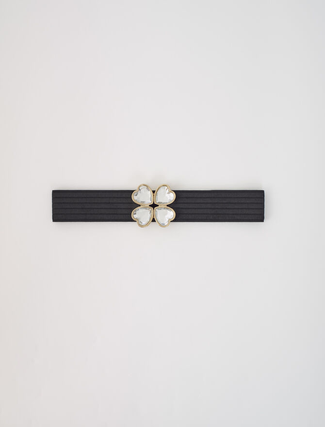 Elasticated belt with jewel fastening -  - MAJE