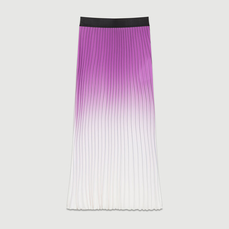 Jupe plissée tie and dye : Jupes & Shorts couleur Violet