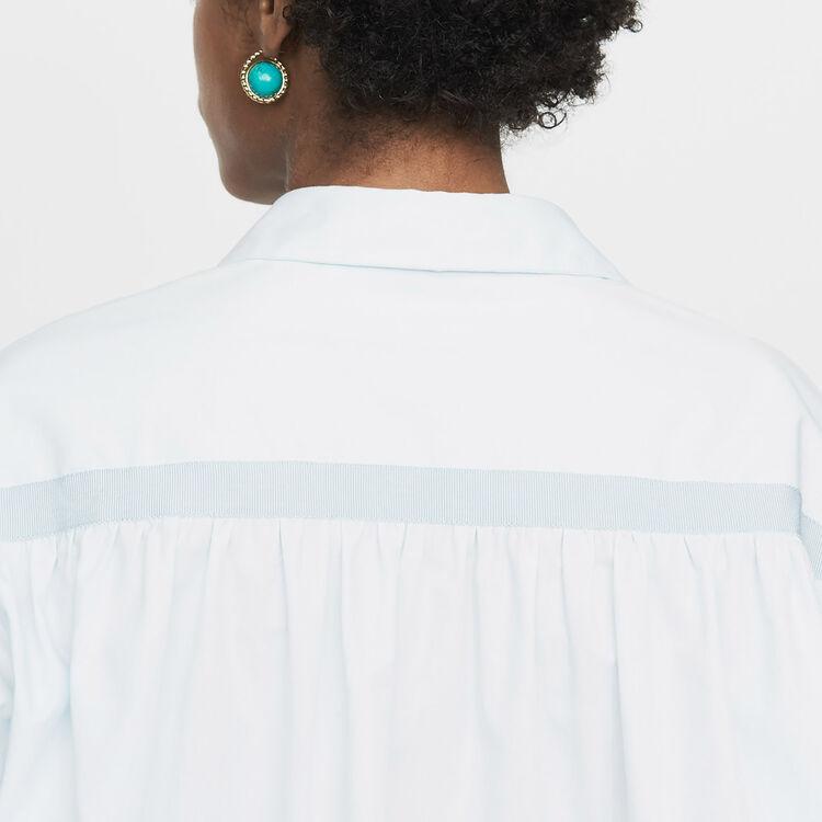 Chemise oversize avec gros-grain : Nouvelle Collection couleur Bleu Ciel