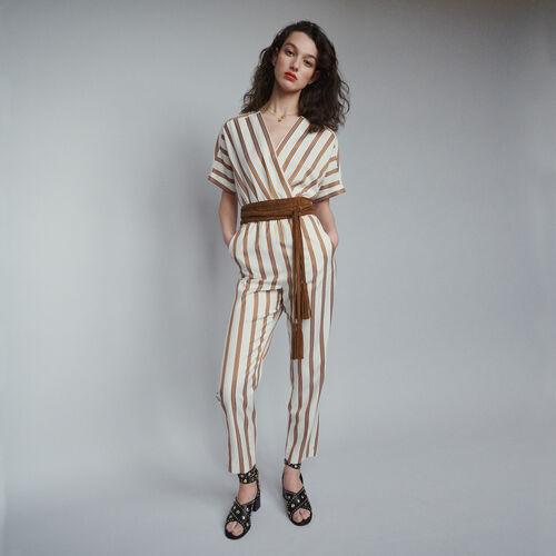 Combi-pantalon à rayures : Pantalons & Jeans couleur Rayure