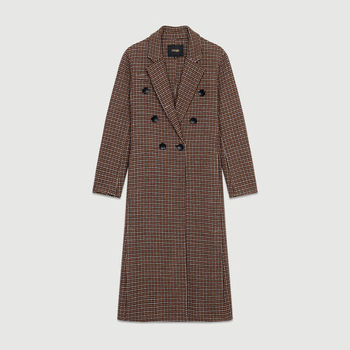 Manteau en laine à imprimé pied-de-poule : Manteaux couleur CARREAUX