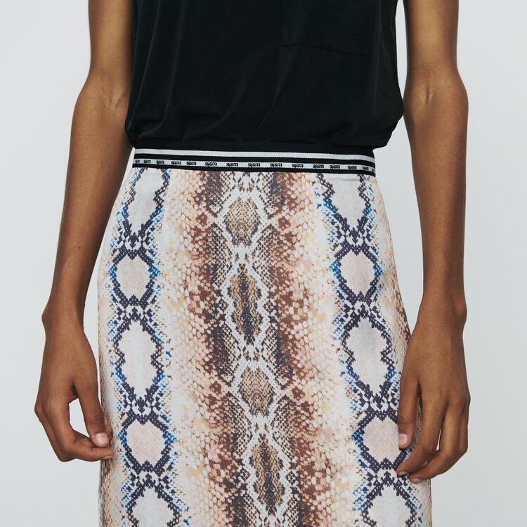 Jupe midi à imprimé python : Jupes & Shorts couleur IMPRIME