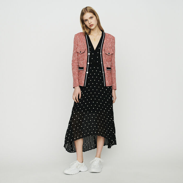 Tweed-style jacket : Blazers color Red